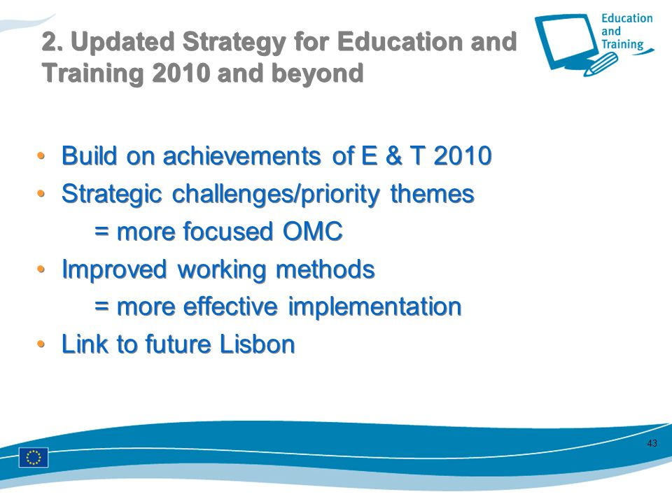 2. Updated Strategy for Education and Training 2010 and beyond