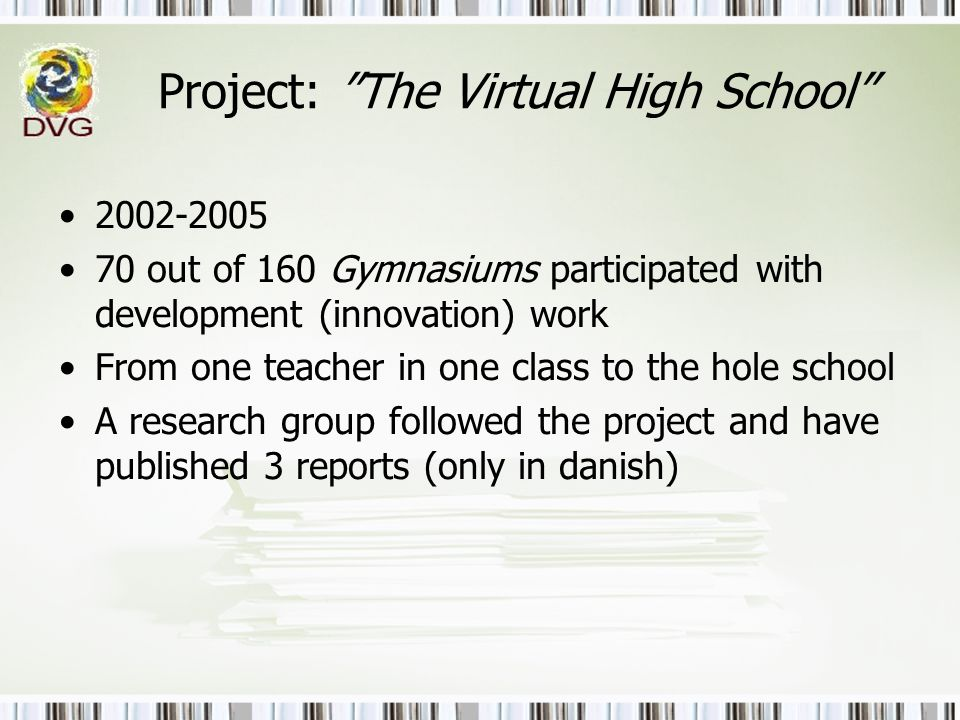 Project: The Virtual High School