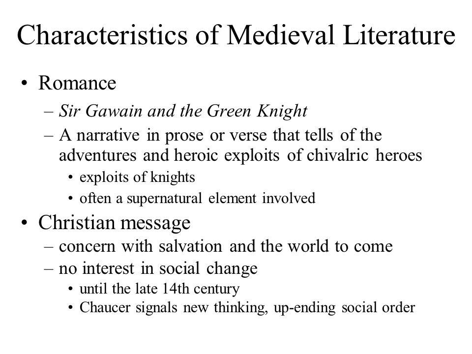 characteristics of old english literature pdf