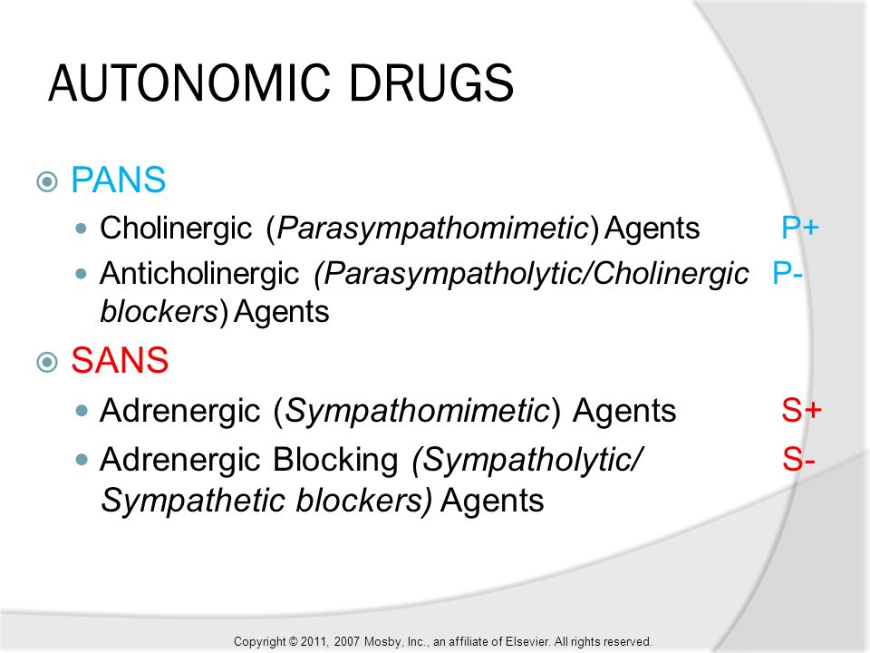 effects of sympathomimetic and parasympathomimetic agents Use this page to discuss and explain the important components/concept of autonomic drugs and the mechanism of their action autonomic drugs that have effects similar to those of the effector agents in the two systems are called sympathomimetic and parasympathomimetic drugs.