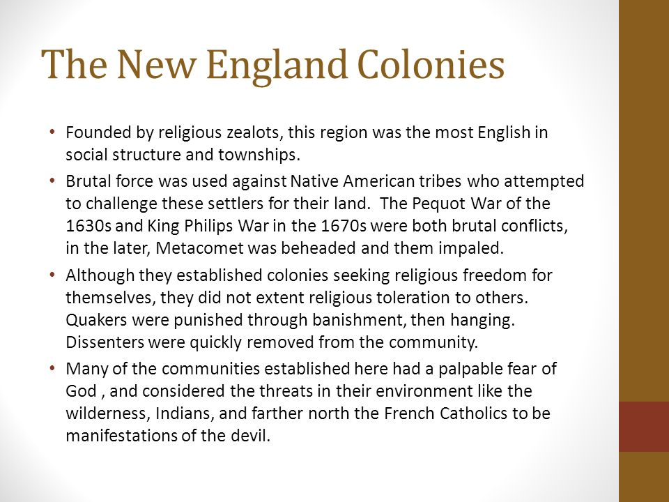 new england colonies social