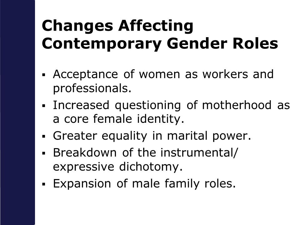 Changes Affecting Contemporary Gender Roles