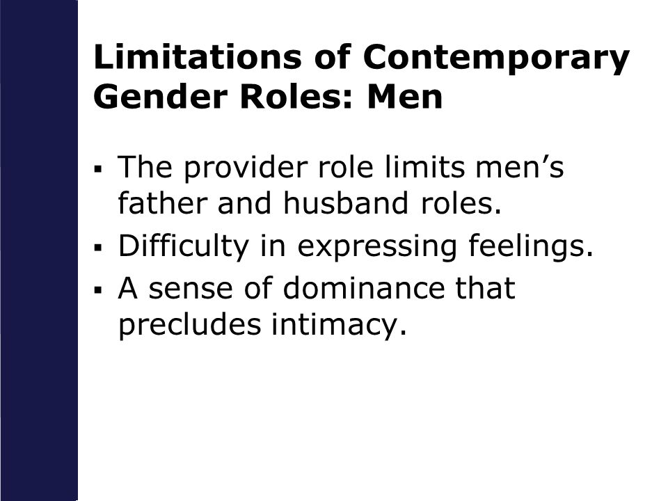 Limitations of Contemporary Gender Roles: Men