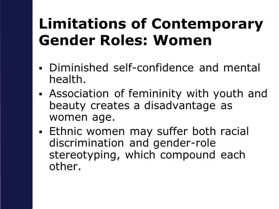 Limitations of Contemporary Gender Roles: Women