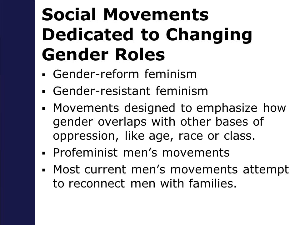 Social Movements Dedicated to Changing Gender Roles
