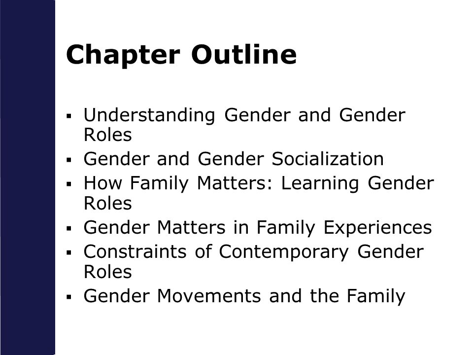 Chapter Outline Understanding Gender and Gender Roles