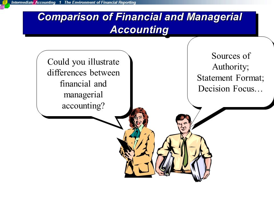 similarities and differences between financial and managerial accounting What is the difference between financial accounting and management accounting financial accounting has its focus on the financial statements which are distributed to stockholders, lenders, financial analysts, and others outside of the company.