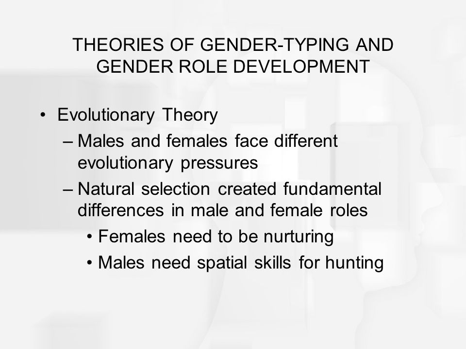 evolution theory on gender differences A feminist biologist discusses gender differences in the  this puts me at odds with much of traditional feminist theory  monogamy and human evolution.