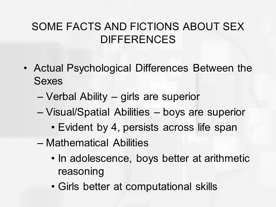 The learning differences between sexes