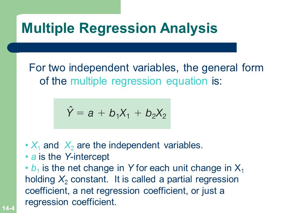 multiple linear regression Multiple linear regression (mlr) is a method used to model the linear relationship between a dependent variable (target) and one or more independent variables (predictors) mlr is based.