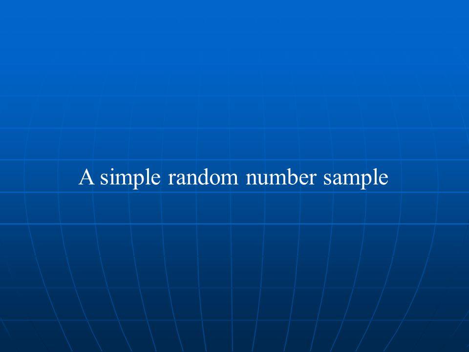 A simple random number sample