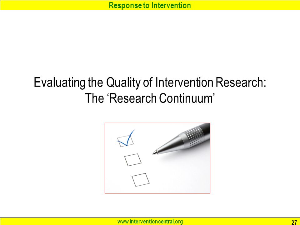 evaluating research quality Checklist for evaluating a research report provided by dr blevins  1 the title a is it clear and concise b does it promise no.