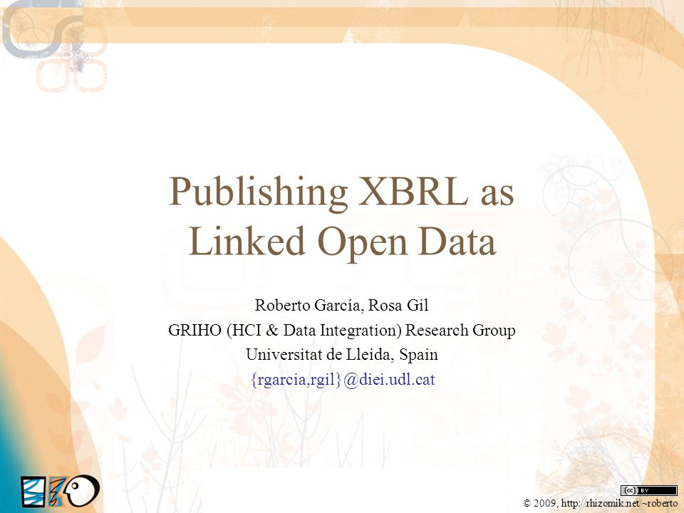 Publishing XBRL as Linked Open Data