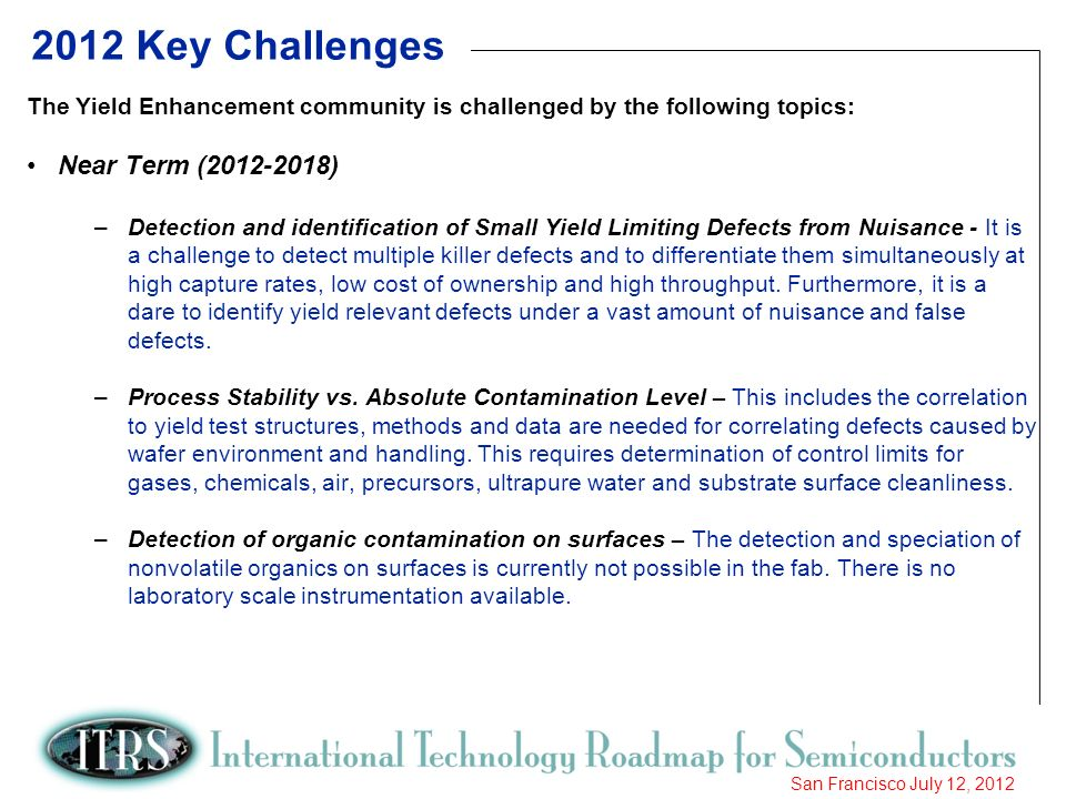2012 Key Challenges Near Term ( )