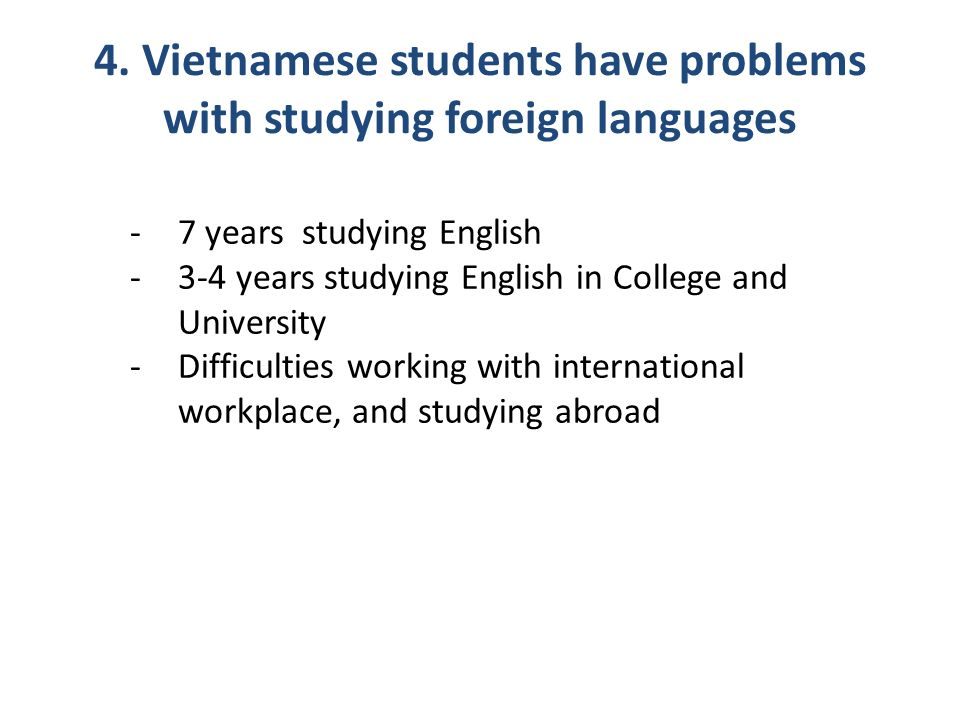 overseas students in western universities difficulties Vietnamese students, learning experiences, learning in australia,  western universities in general and australian universities in particular international students, who come from different social, cultural and educational backgrounds, might  difficulties which international students in general and.