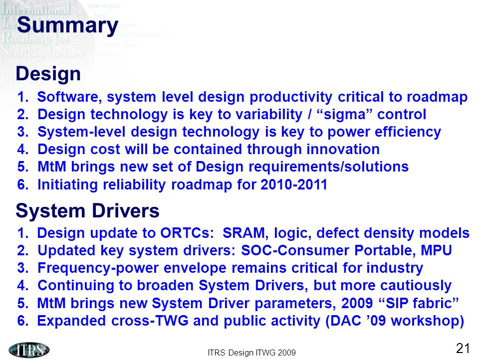 Summary Design System Drivers