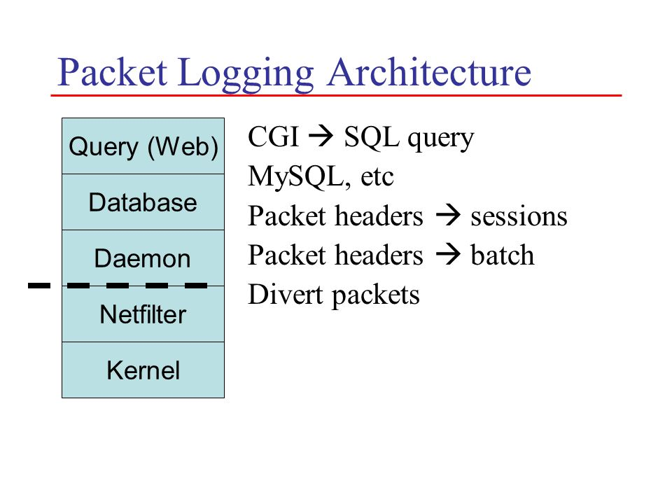 Packet Logging Architecture