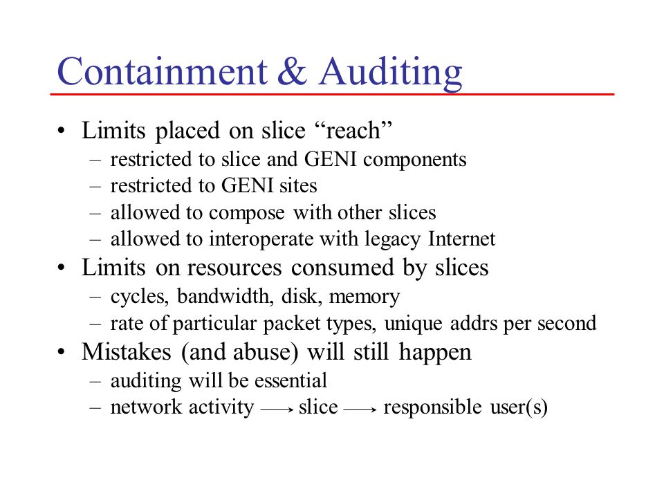 Containment & Auditing