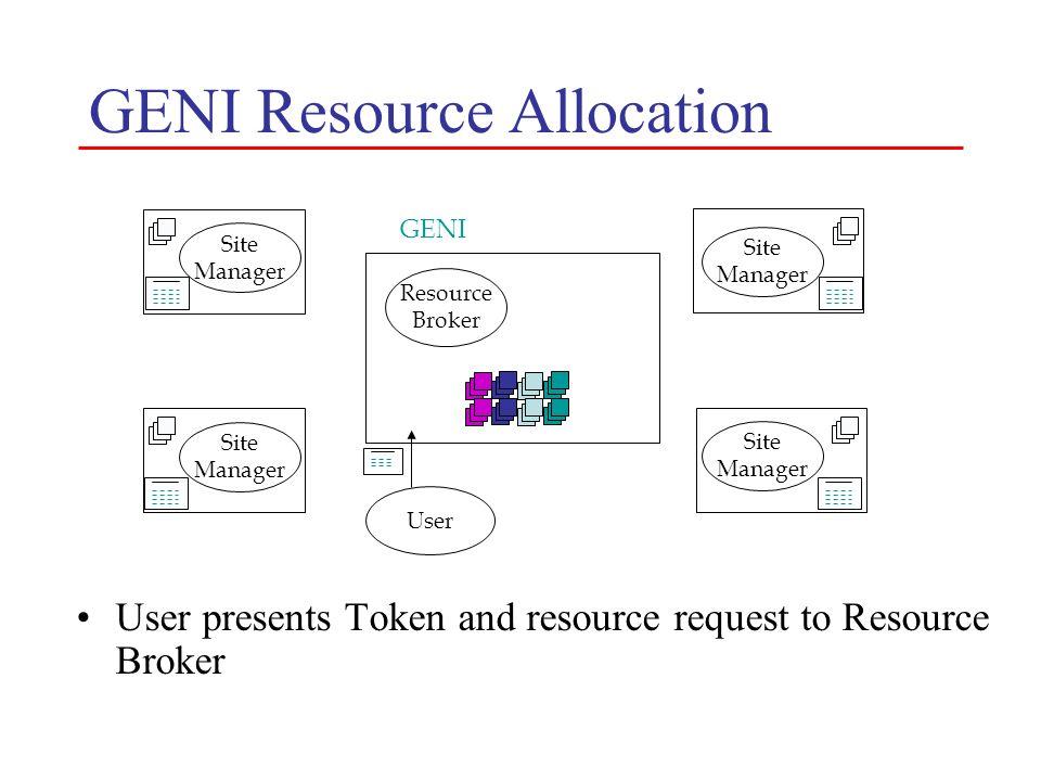 GENI Resource Allocation
