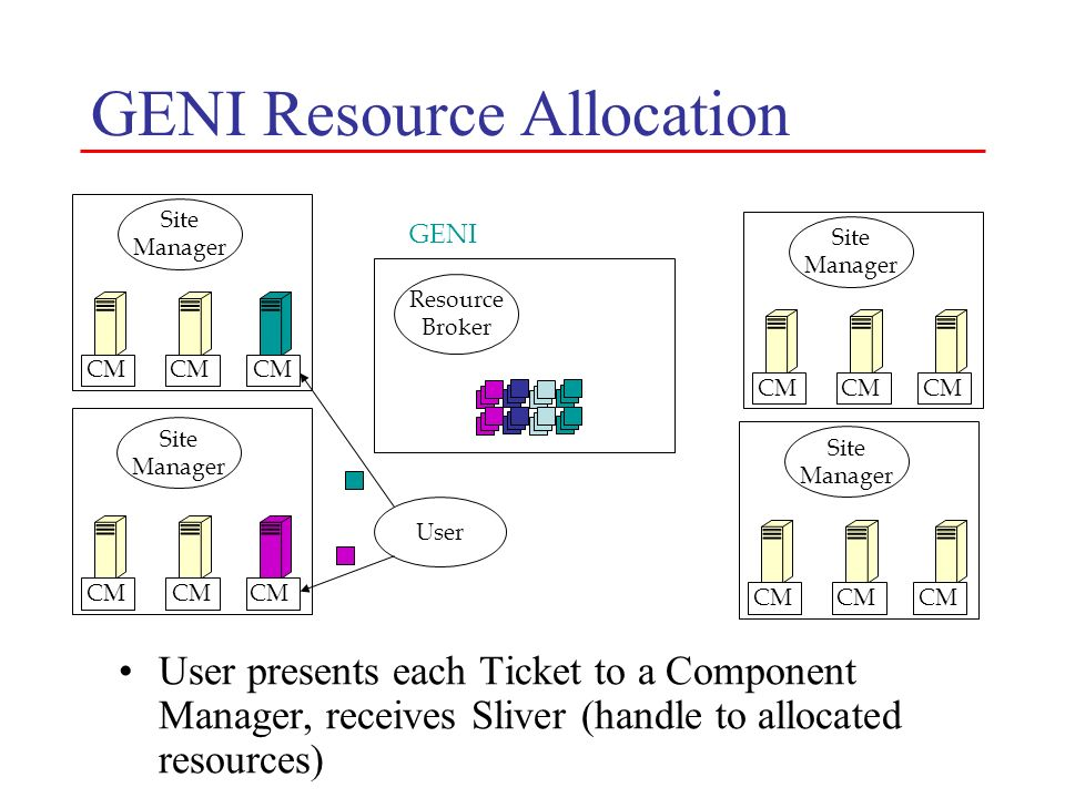 GENI Resource Allocation