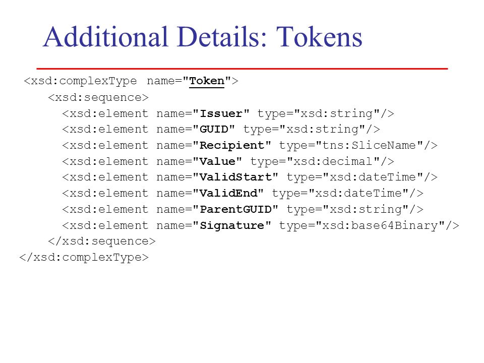 Additional Details: Tokens