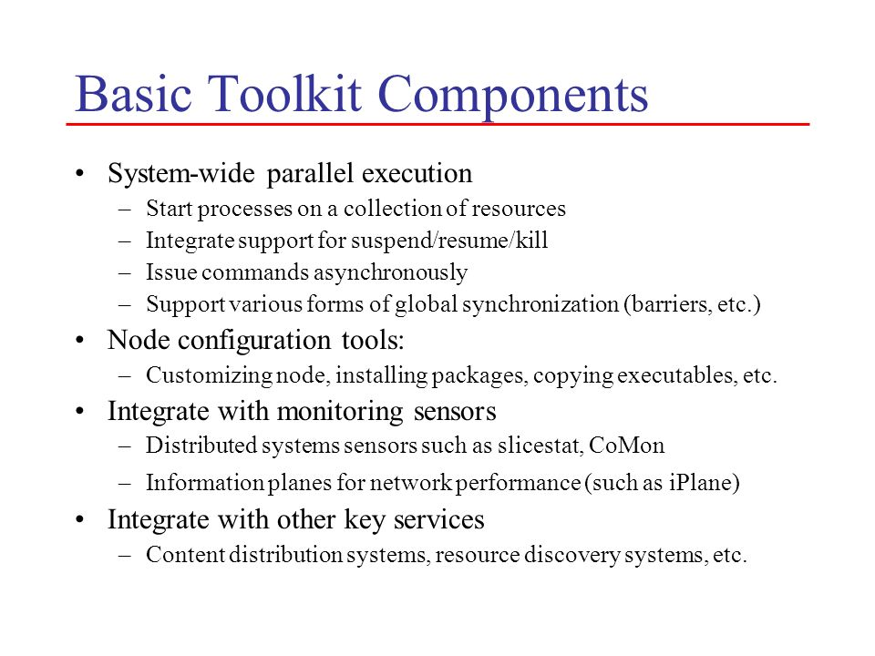 Basic Toolkit Components