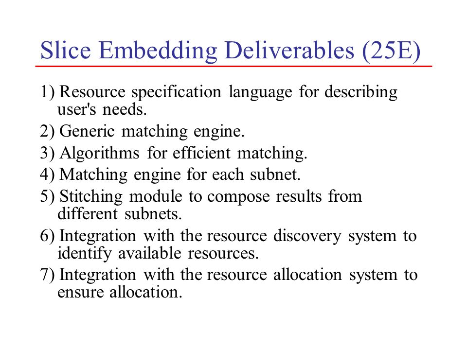 Slice Embedding Deliverables (25E)