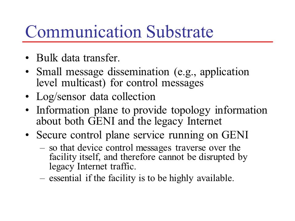 Communication Substrate