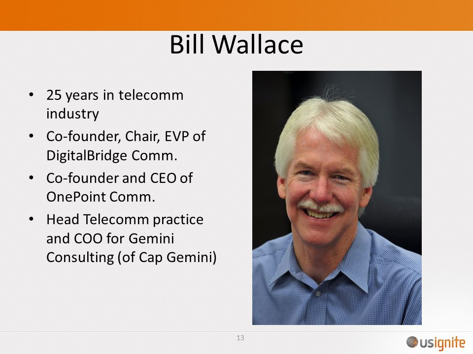 Bill Wallace 25 years in telecomm industry