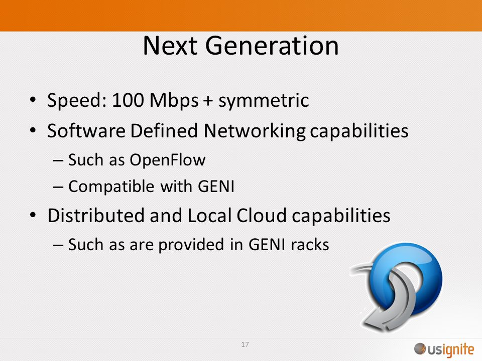 Next Generation Speed: 100 Mbps + symmetric
