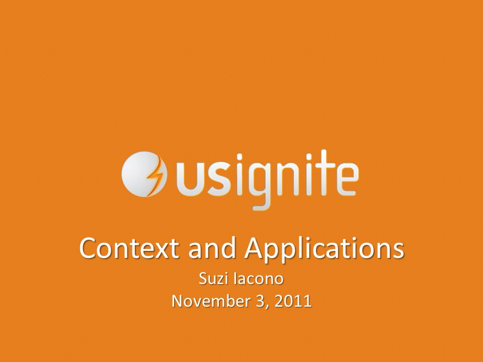 Context and Applications