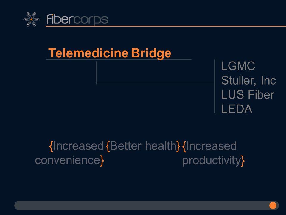 Telemedicine Bridge LGMC Stuller, Inc LUS Fiber LEDA