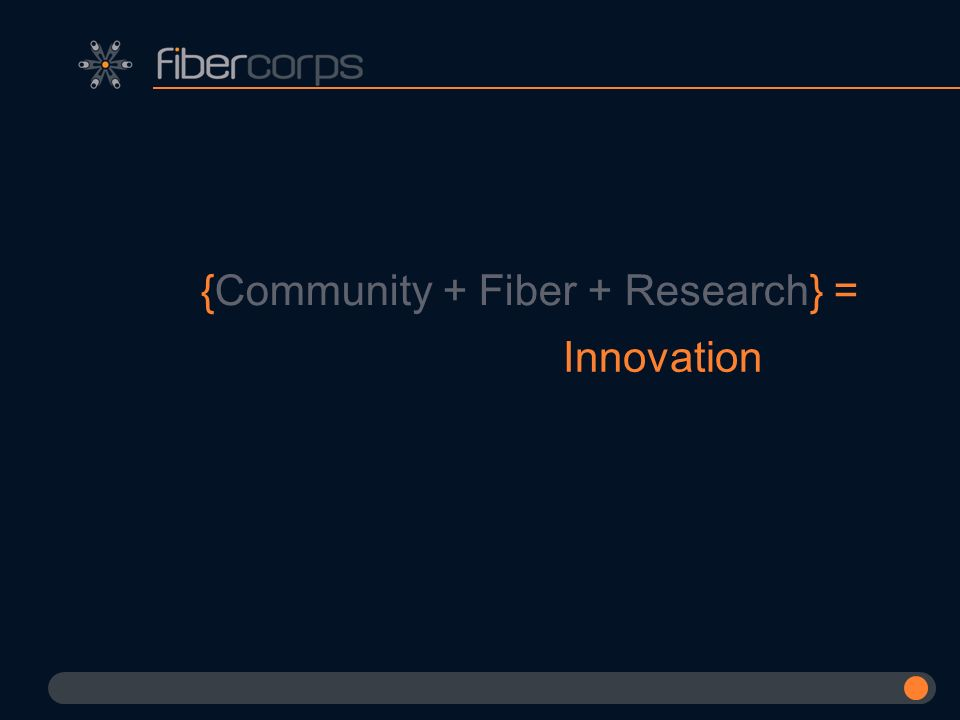 {Community + Fiber + Research} =