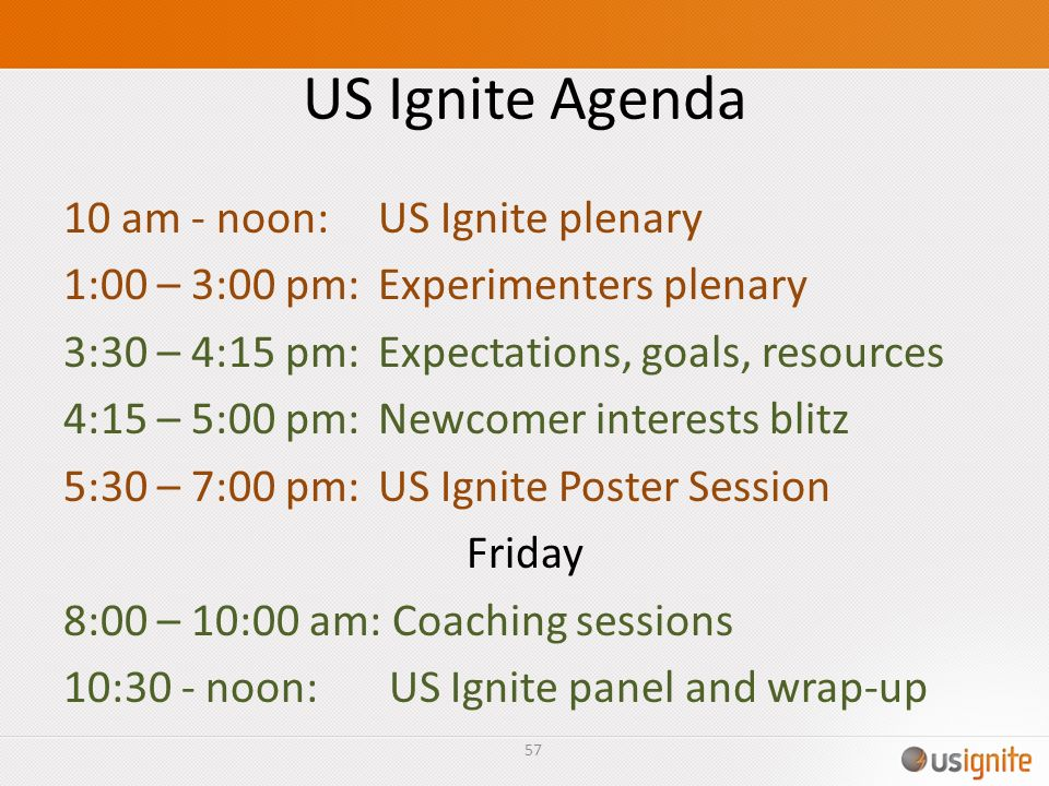US Ignite Agenda