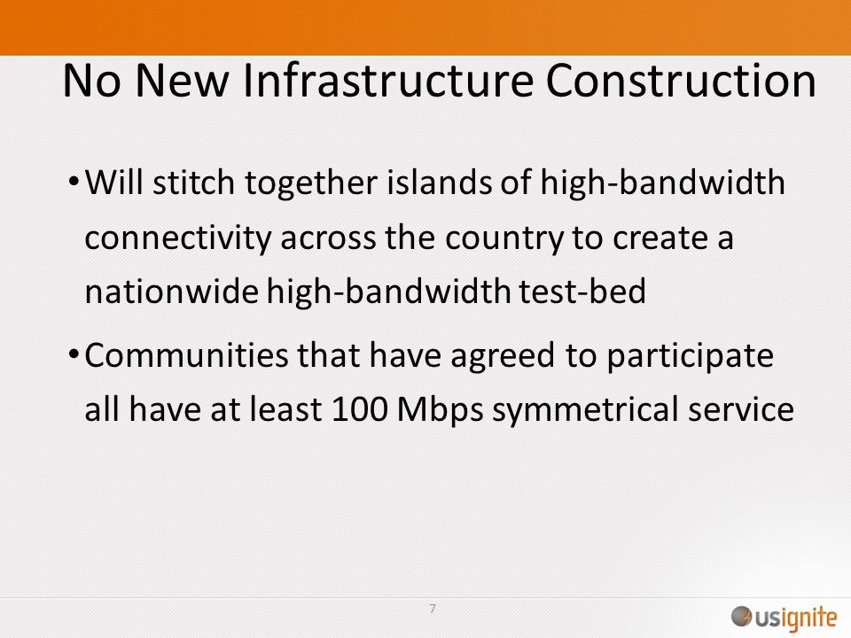 No New Infrastructure Construction
