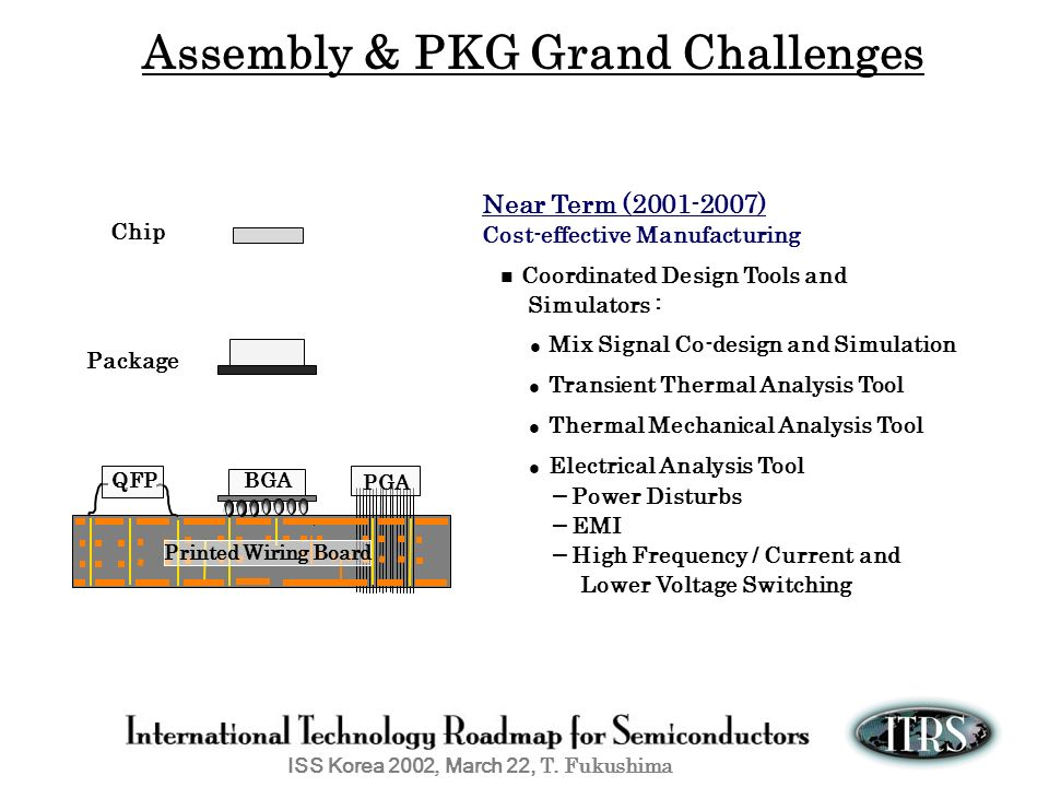 Assembly & PKG Grand Challenges