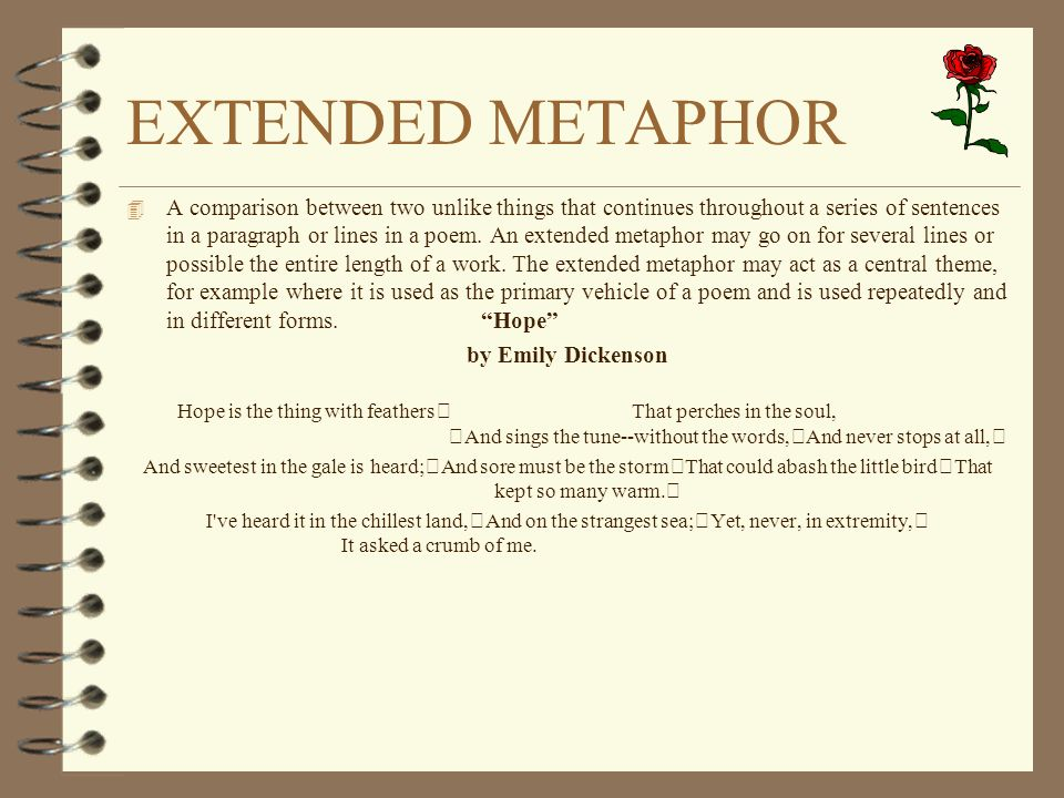 extended metaphor Essays - largest database of quality sample essays and research papers on extended metaphor essay.