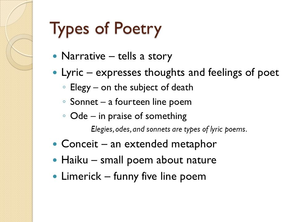 comparing narrative poems to lyric poems Lyric and narrative i think that flight reveals a gradual movement toward more techniques of the lyric my early poems were composed using a lot of fictional.