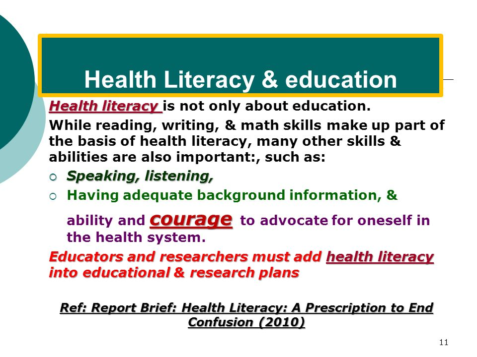 Health Literacy & education