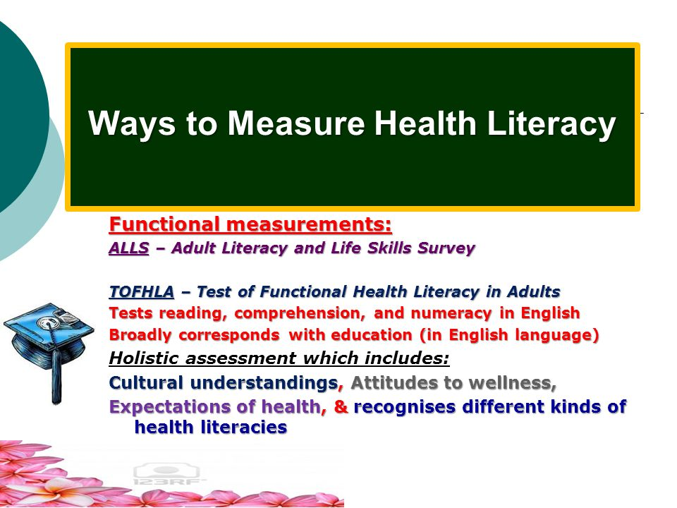 Ways to Measure Health Literacy
