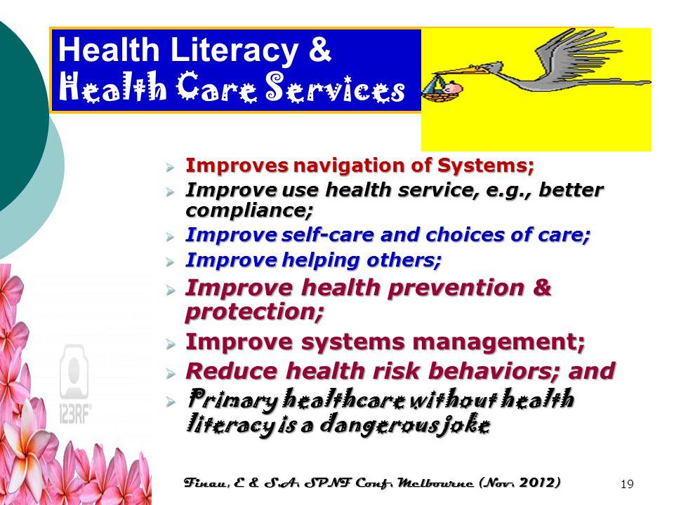 Health Literacy & Health Care Services