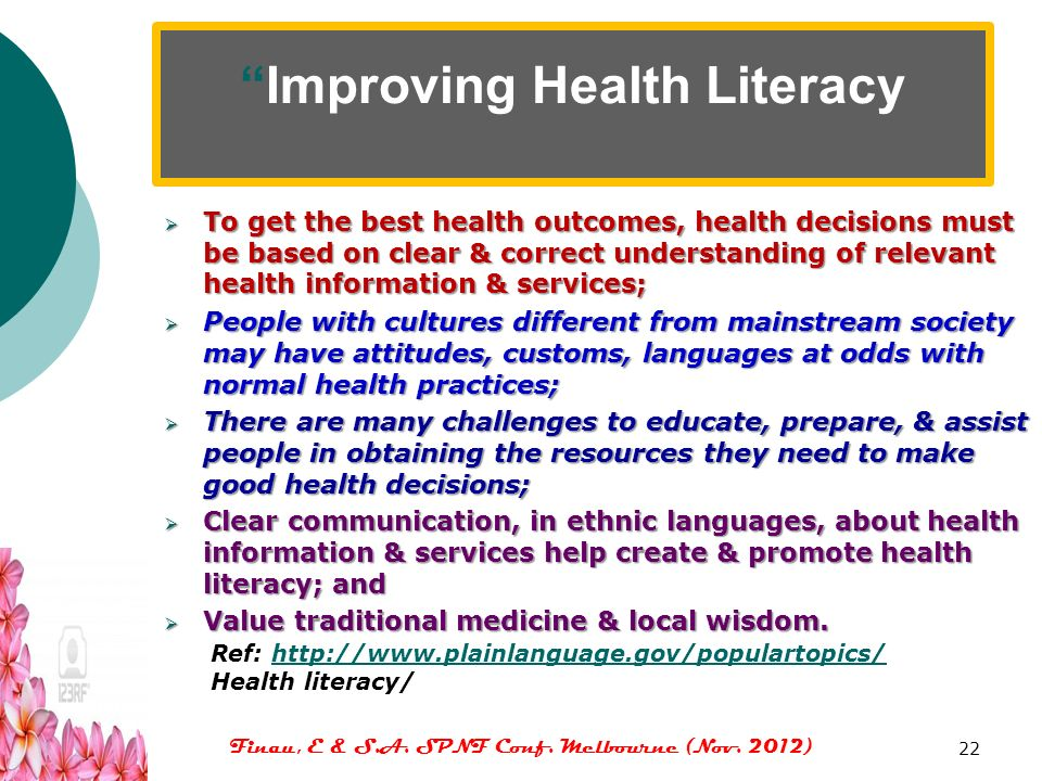 Improving Health Literacy