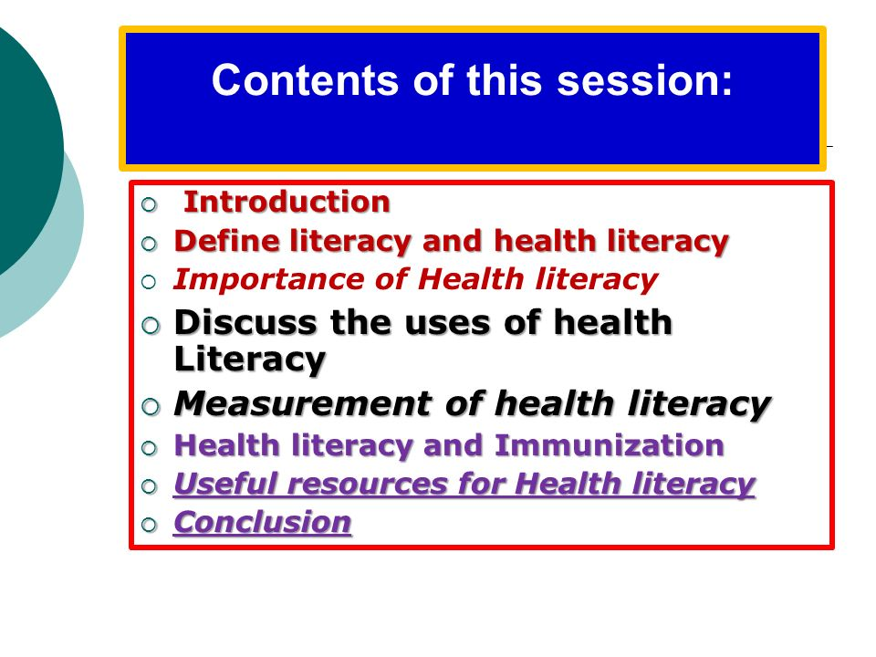 Contents of this session: