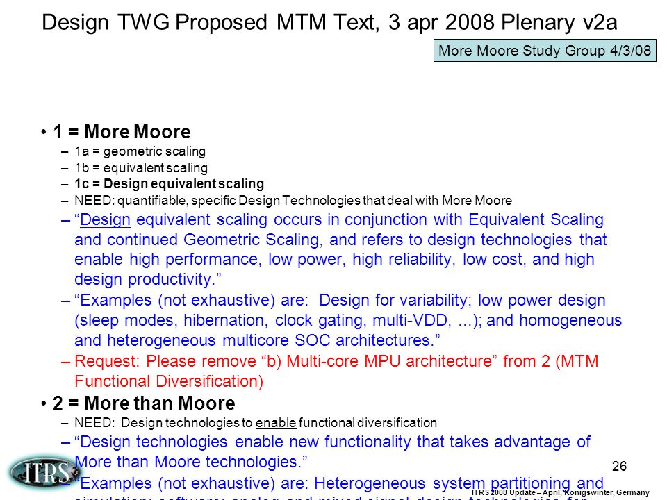 Design TWG Proposed MTM Text, 3 apr 2008 Plenary v2a