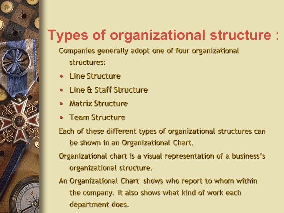 different types of organizational structures pdf