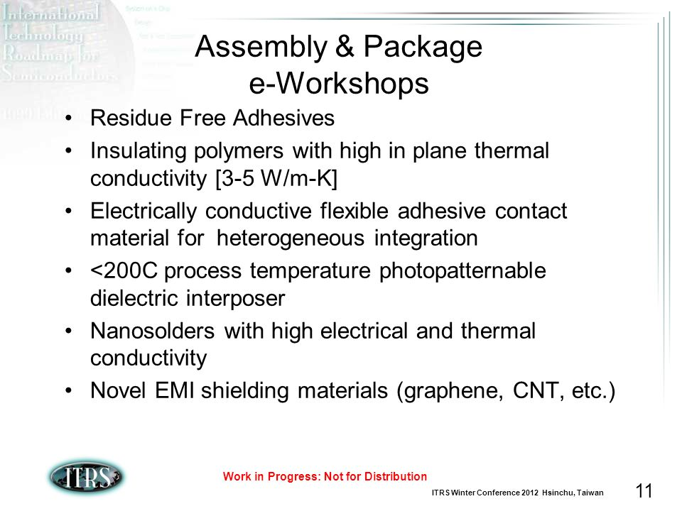 Assembly & Package e-Workshops