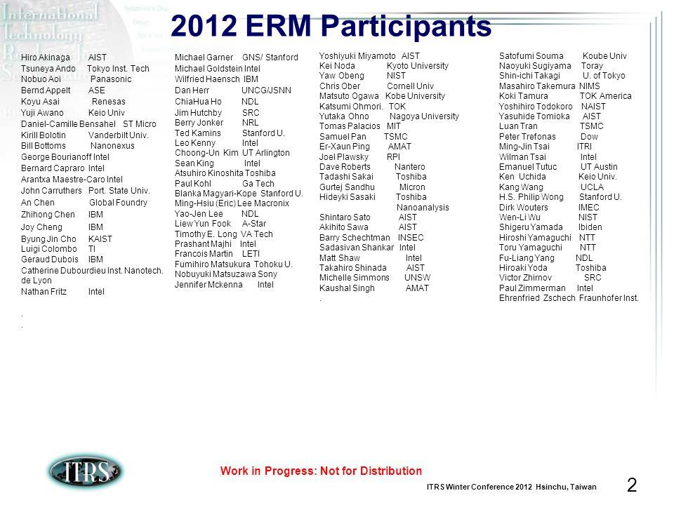 2012 ERM Participants Hiro Akinaga AIST Tsuneya Ando Tokyo Inst. Tech