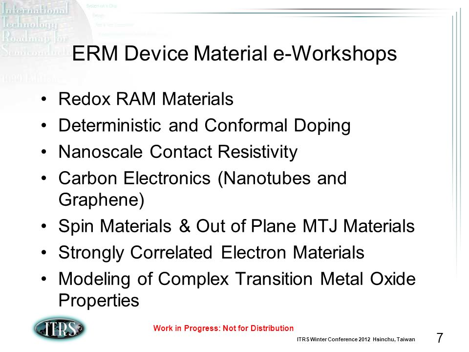 ERM Device Material e-Workshops