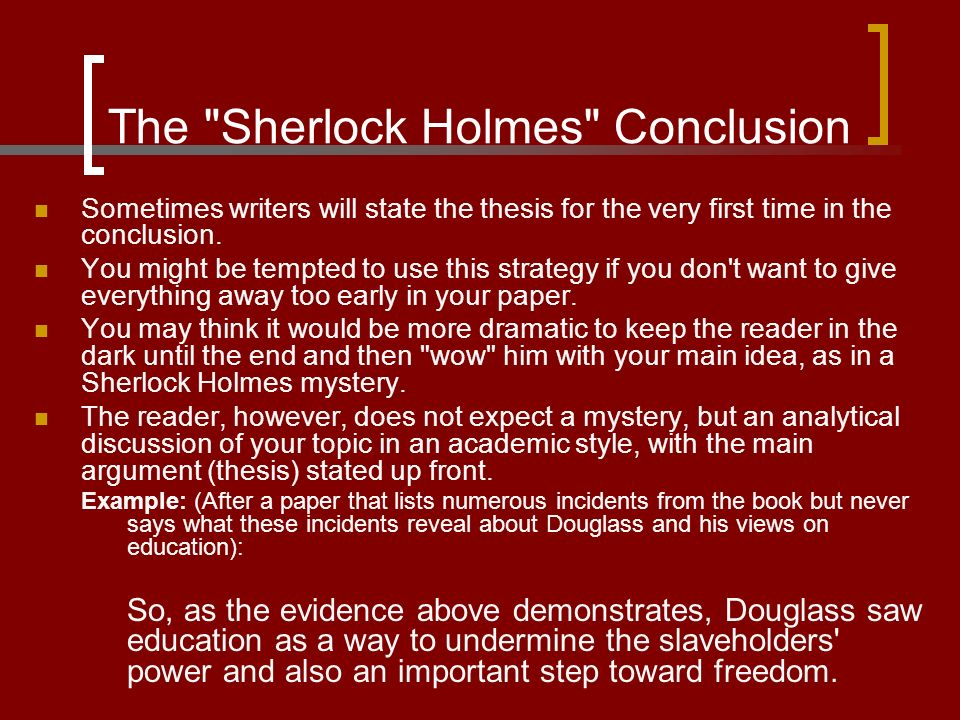 sherlock holmes stories essay Rating and ranking the best sherlock holmes stories as determined by polls of sherlockian scholars.