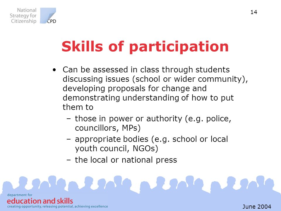 Skills of participation